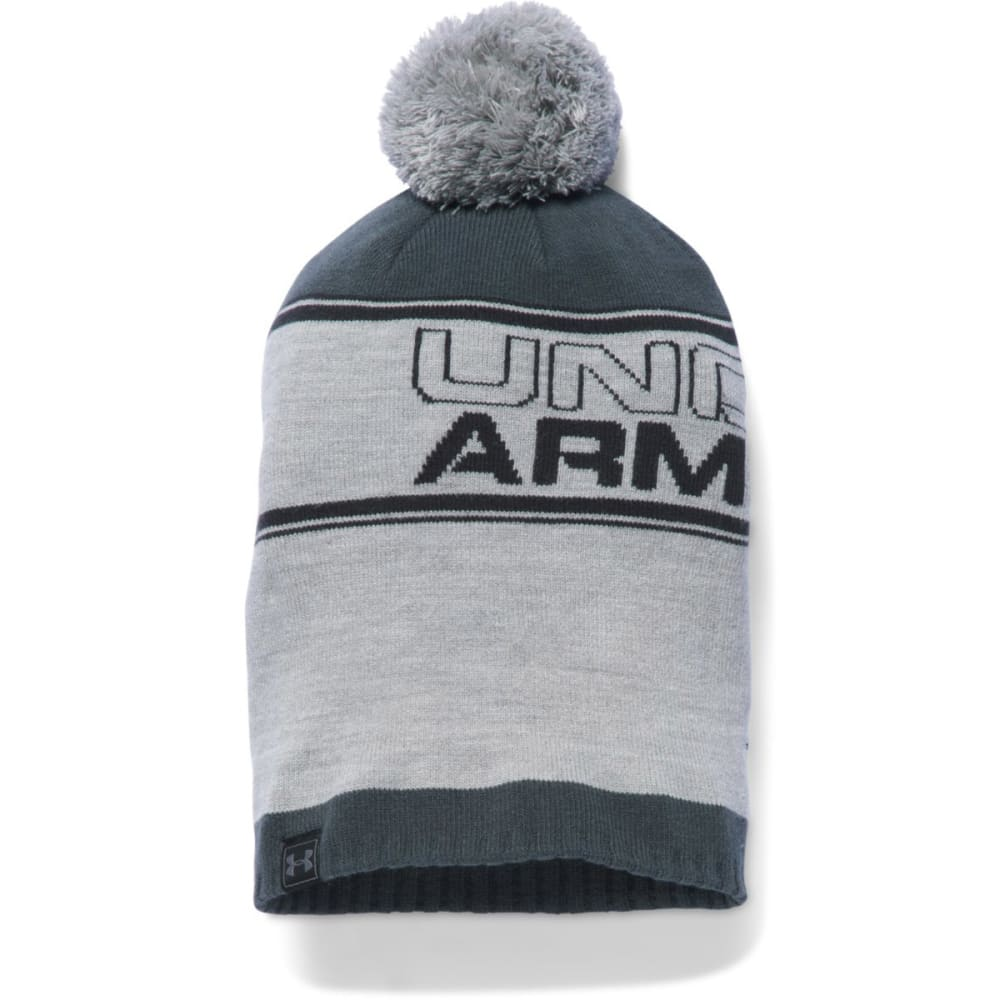 UNDER ARMOUR Men's Retro Pom Beanie - TGH/STEALTH 025