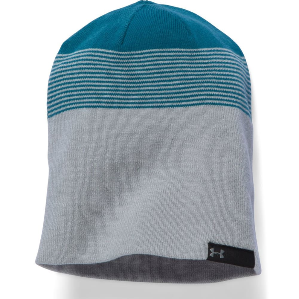 UNDER ARMOUR Men's 4-in-1 Striped Beanie - TEAL 941