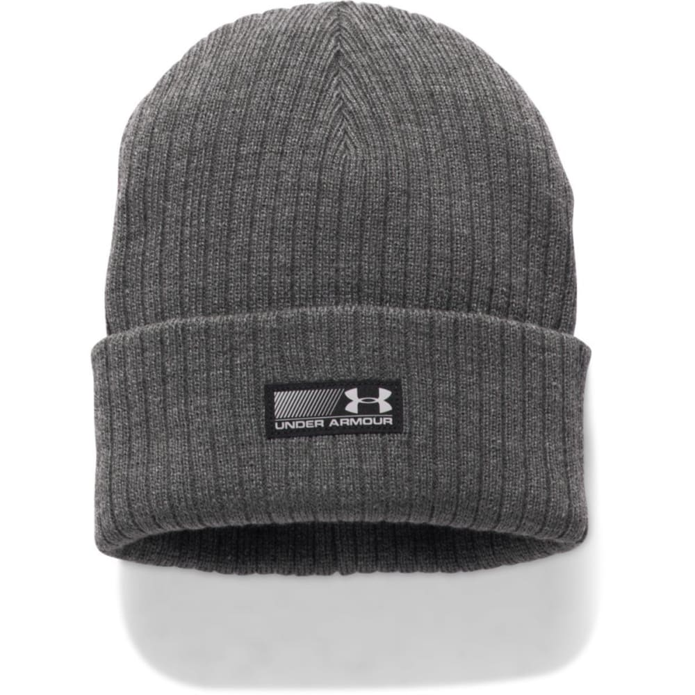 UNDER ARMOUR Men's Truck Stop Beanie - 090-CARBON HTR