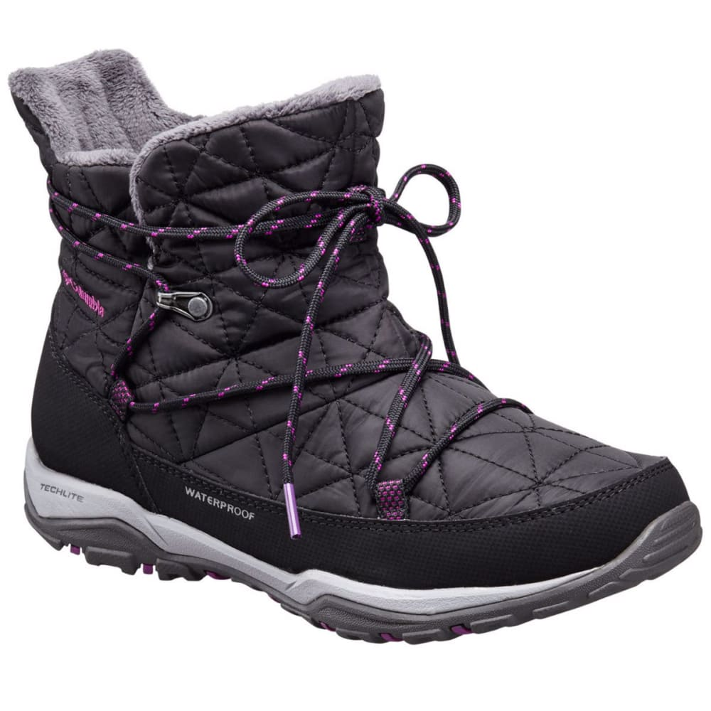 COLUMBIA Women's Loveland Shorty Omni-Heat Boots - BLACK/BRIGHT PLUM