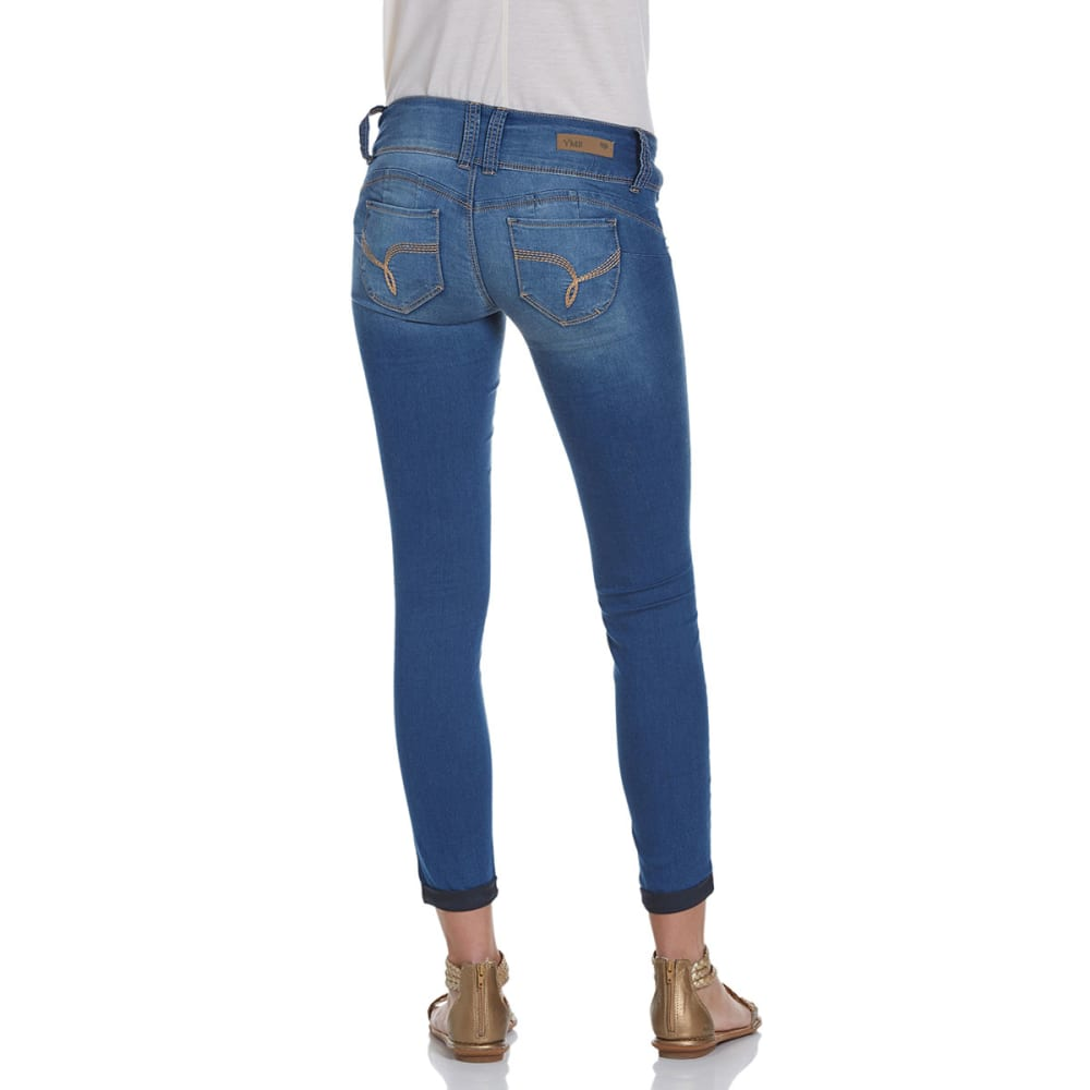 YMI Juniors' Wanna Betta Butt Cuffed Skinny Jeans - M08-MEDIUM WASH
