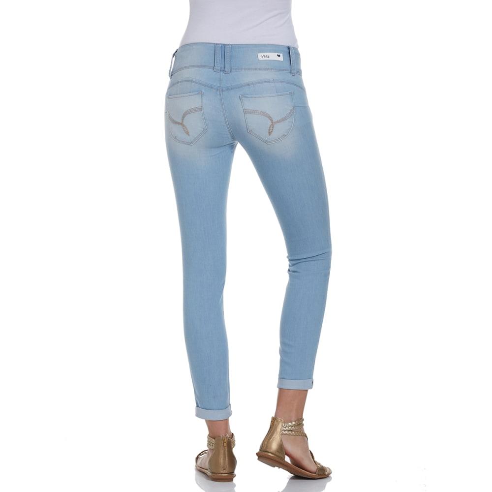 YMI Juniors' Wanna Betta Butt Cuffed Skinny Jeans - Q36-LIGHT WASH
