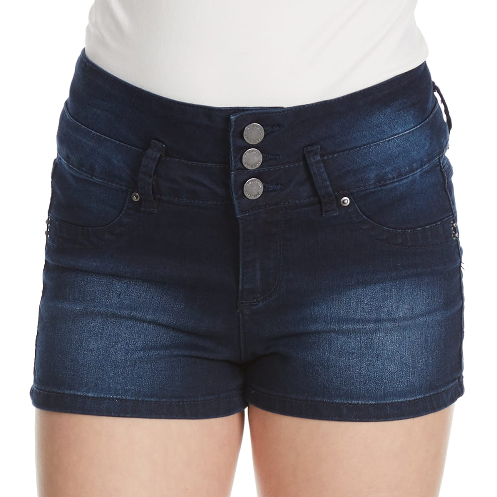 YMI Juniors' High Rise Stacked Denim Shorts - S36-NWBLE