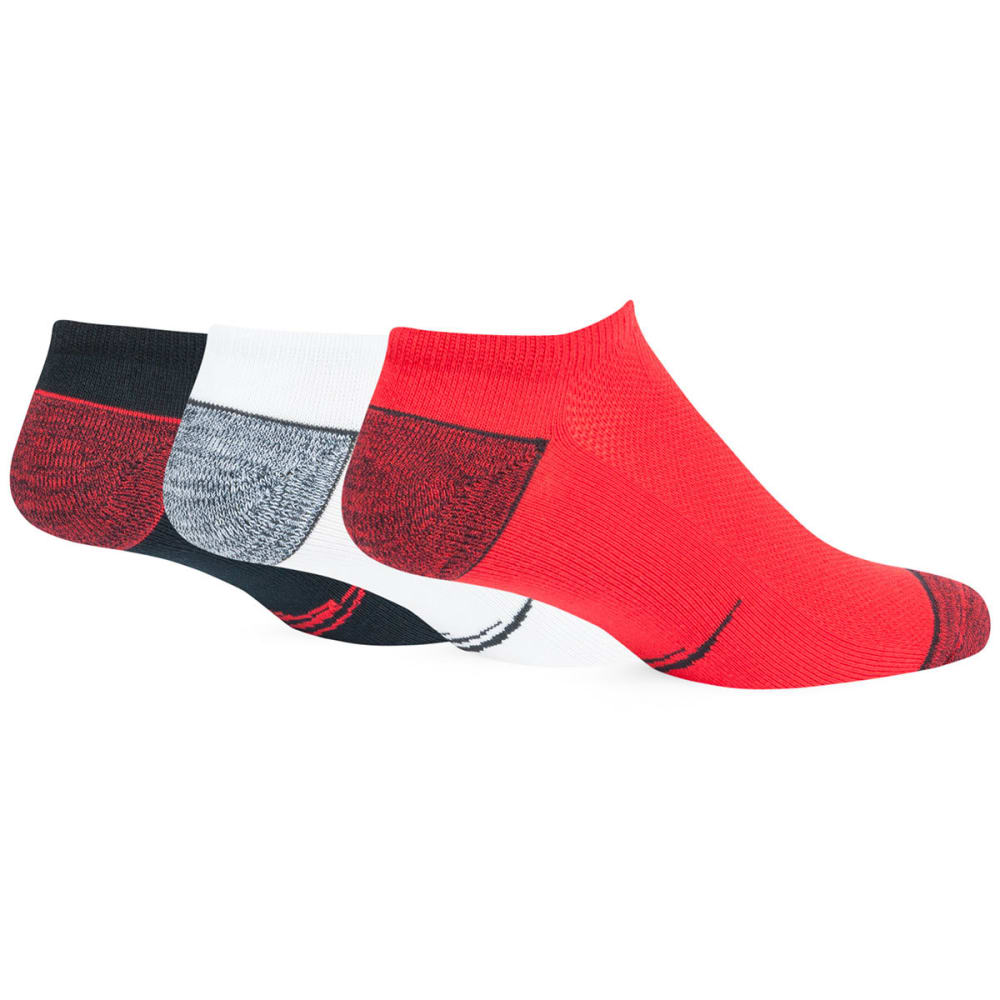NEW ENGLAND PATRIOTS Women's '47 Blade No-Show Socks, 3 Pack - WHT/T.RED/LT NAVY