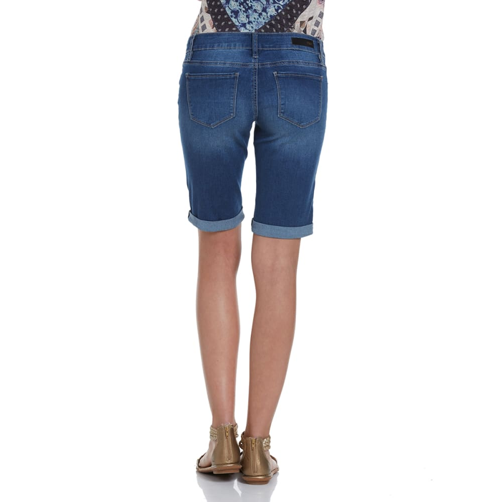 YMI Juniors' Luxe Denim Bermuda Shorts - -M08 MEDIUM