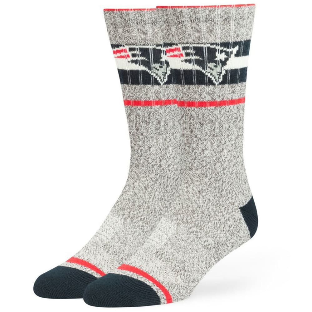 NEW ENGLAND PATRIOTS Collins Fuse Crew Socks - OFWHT/GRY/RED/NVY