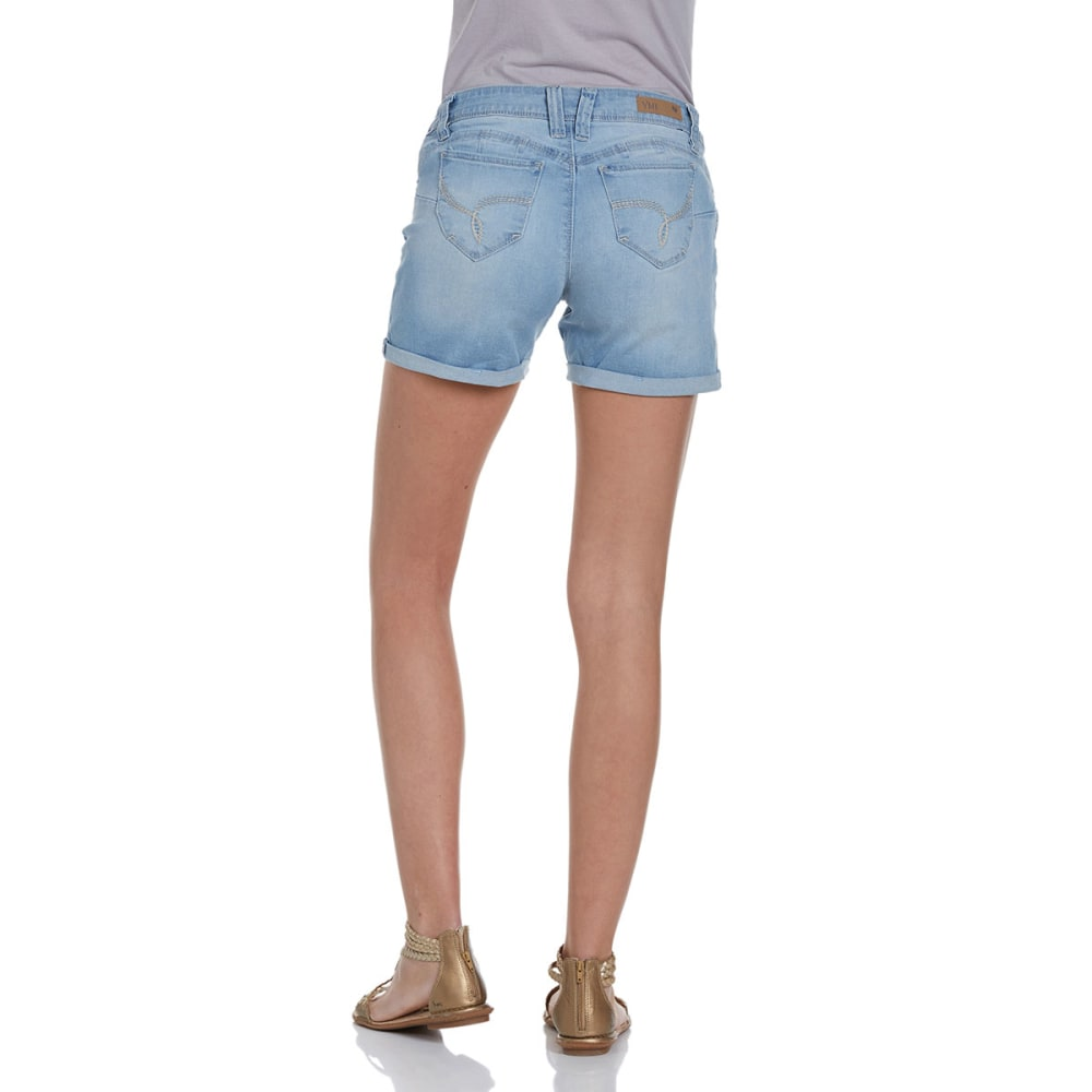 Y.M.I. Juniors' Destructed Denim Shorts - L124 LIGHT