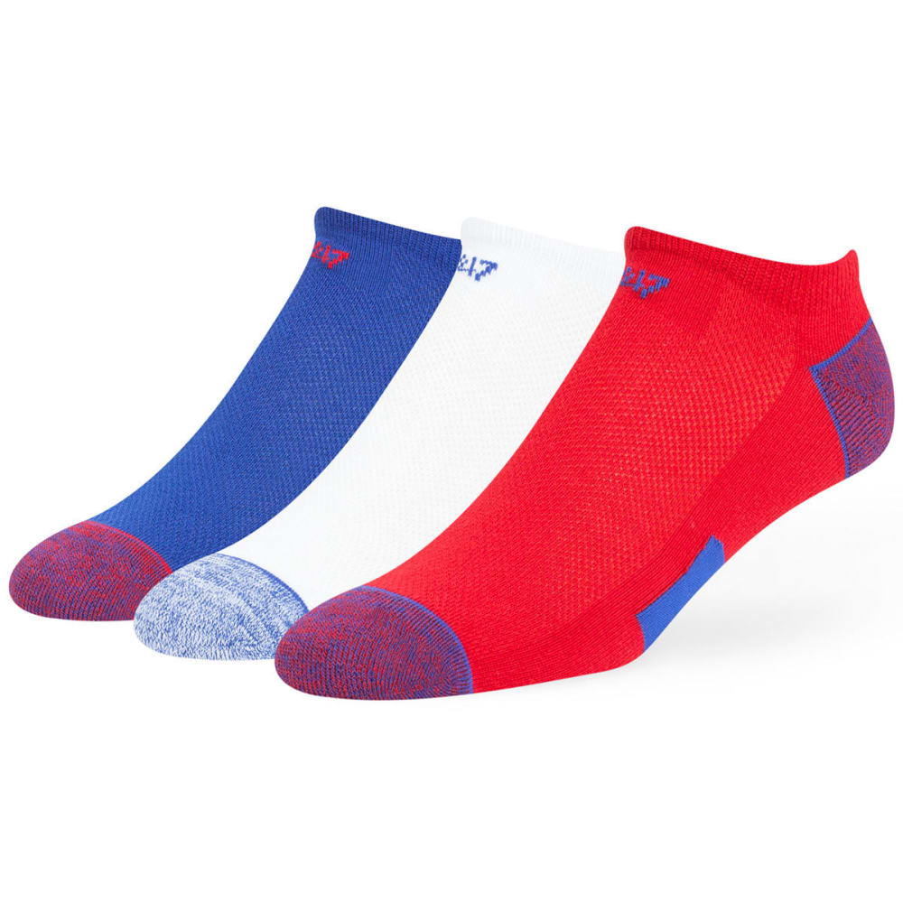 NEW YORK GIANTS Women's Blade No Show Socks, 3 Pack - RED/ROYAL/WHITE-3PK