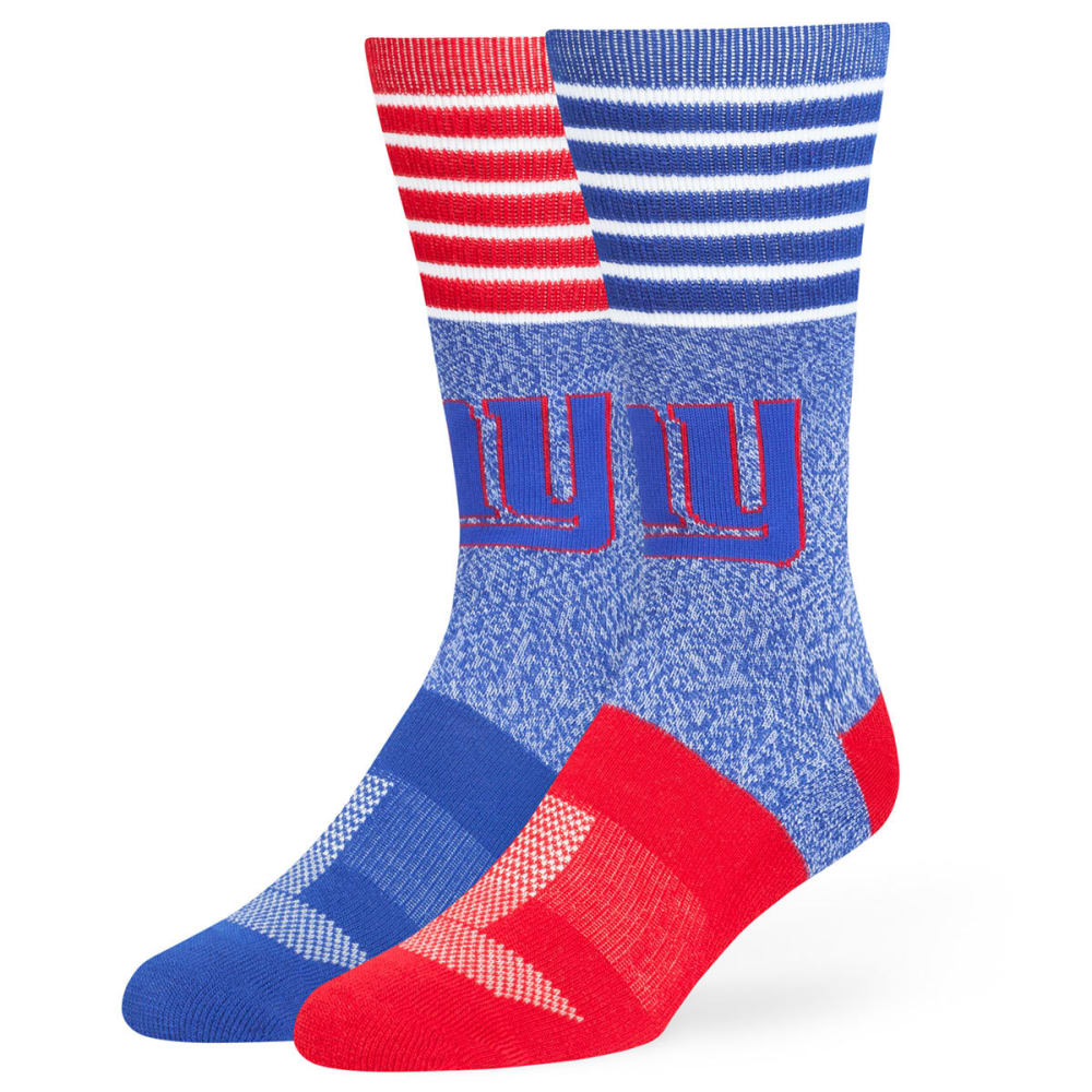 NEW YORK GIANTS Men's Vernon Crew Socks - RYLBLUE/RED/WHTSTR