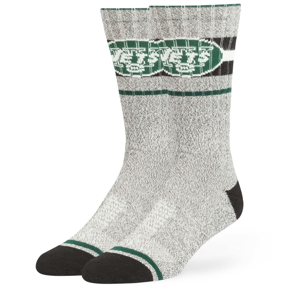NEW YORK JETS Collins Fuse Crew Socks - WHT/DKGREEN/BLACK