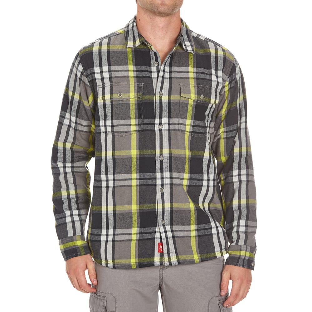 Ems(R) Men's Timber Lined Flannel Shirt - Black, M