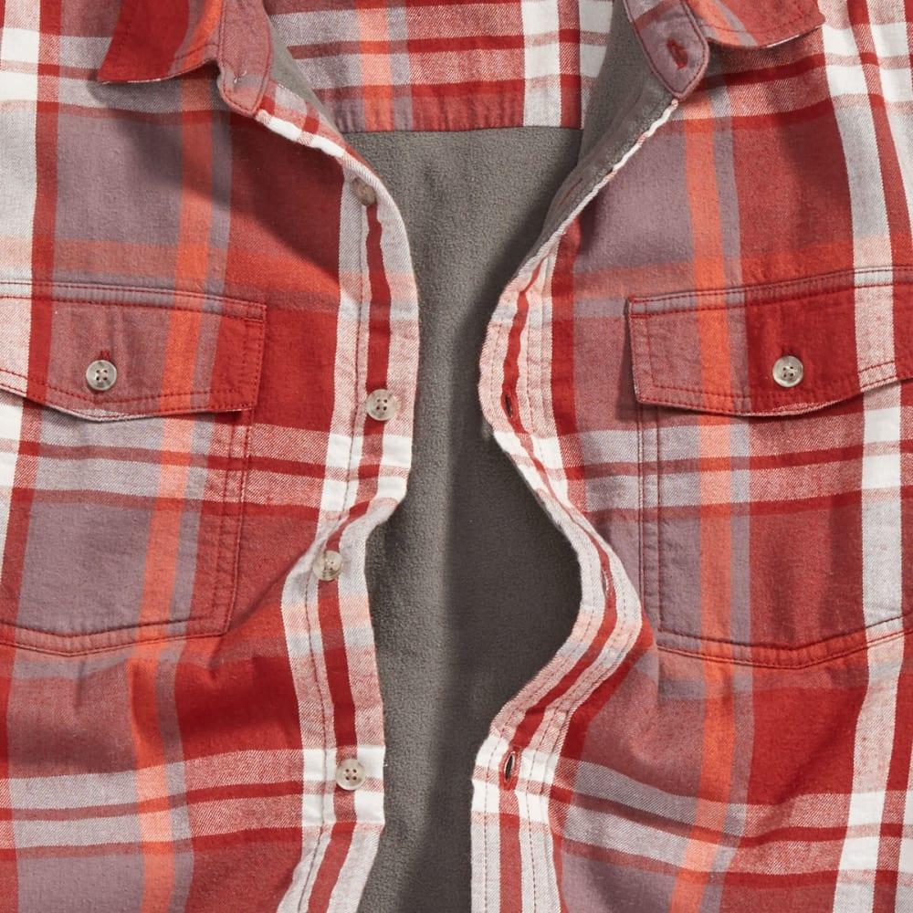 EMS Men's Timber Lined Flannel Shirt - RUSSET