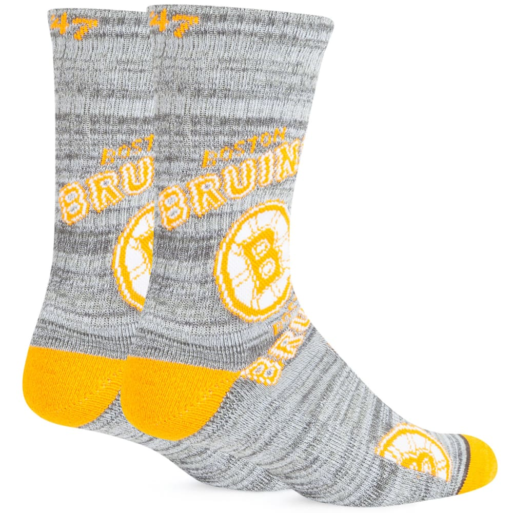 BOSTON BRUINS '47 Percy Crew Socks - WHITE/CHARCOAL/GRAY
