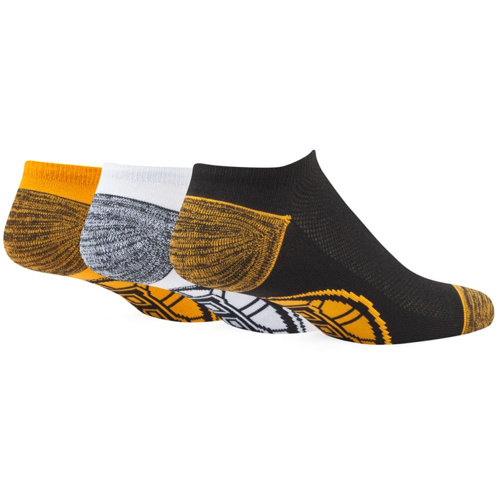 BOSTON BRUINS '47 Blade TC No-Show Socks, 3 Pack - 3PK: BLK/WHT/GOLD