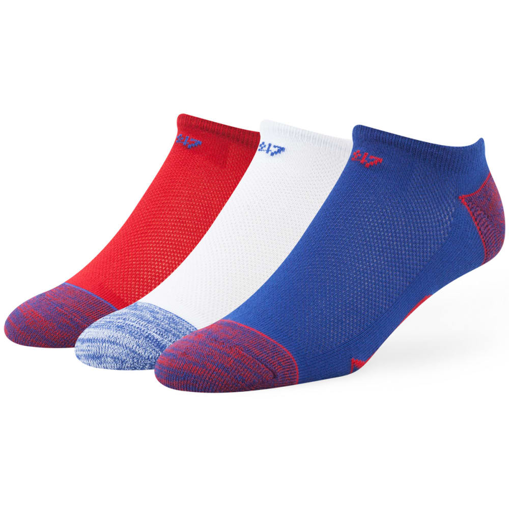 NEW YORK RANGERS Women's Blade No Show Socks, 3 Pack - 3PK: RYL/WHT/RED