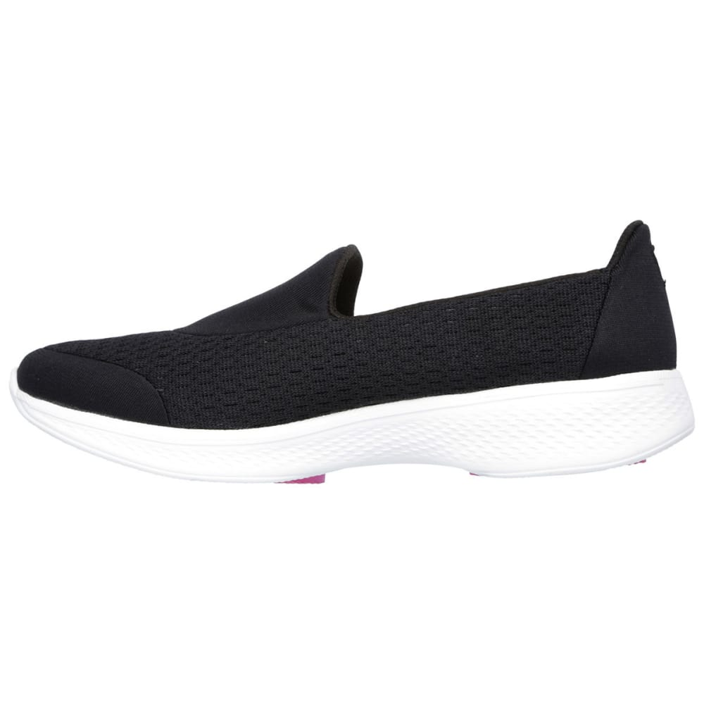 "SKECHERS Women's GOwalk 4 """" Pursuit Sneakers - BLACK"