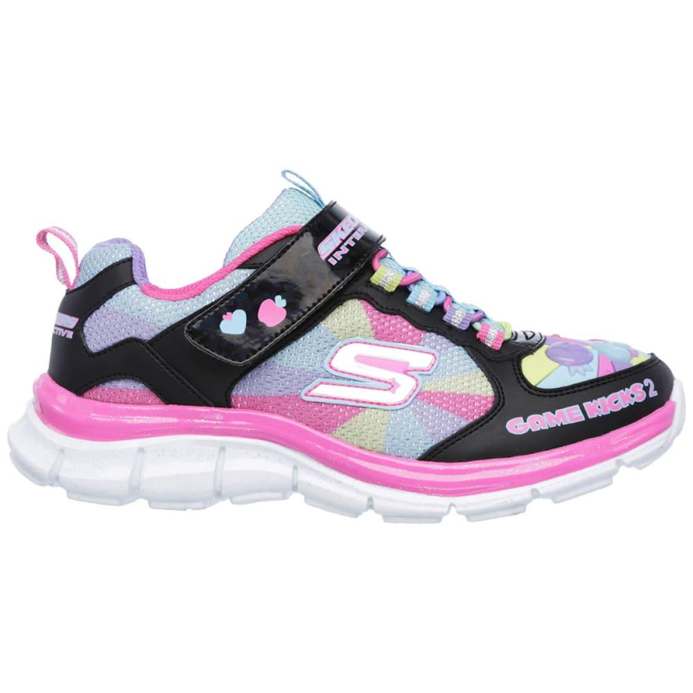 SKECHERS Girls' Game Kicks II - Juicy Smash Shoes - BLACK