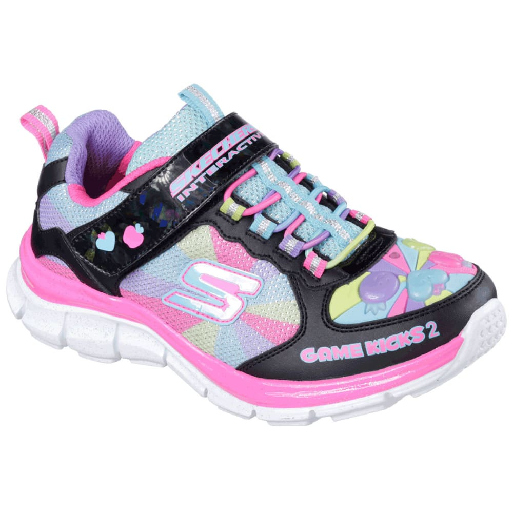 SKECHERS Girls' Game Kicks II - Juicy Smash Shoes - BLACK