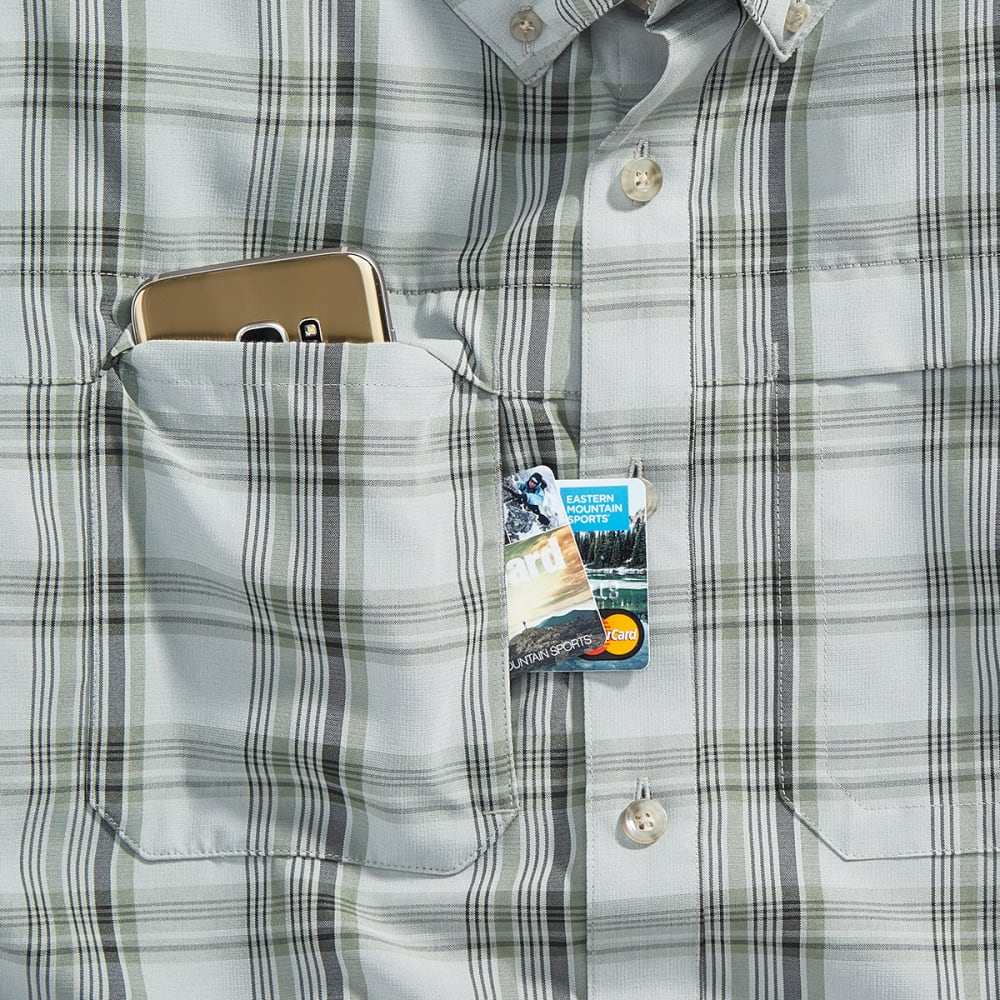 EMS Men's Journey Plaid Long-Sleeve Shirt - HIGH RISE/NEUTRAL