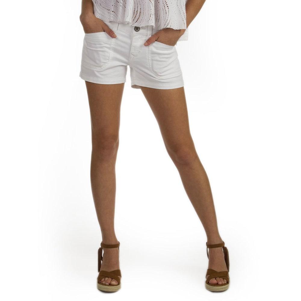 UNIONBAY Juniors' Delaney Stretch Twill Shorts - WHITE - 100J