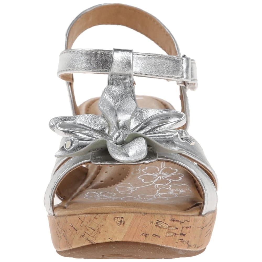 BOC Girls' Bayberry Silver Flower Sandals - SILVER
