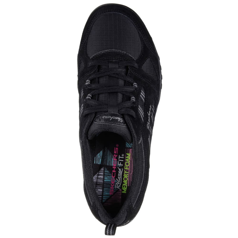 SKECHERS Women's Relaxed Fit: Breathe Easy - Good Luck Sneakers - BLACK