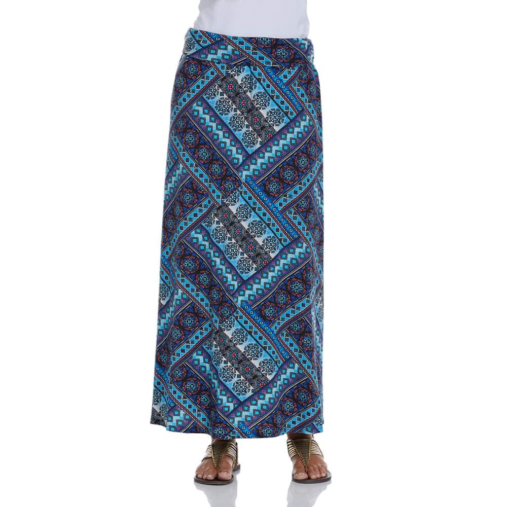 JOE B Juniors' Printed Knit Maxi Skirt - BLACK/MULTI