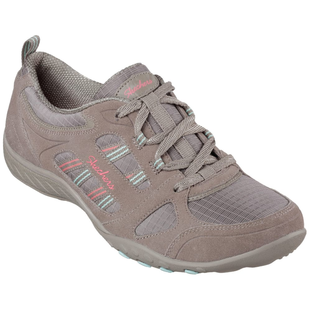 SKECHERS Women's Relaxed Fit: Breathe Easy -  Good Luck Sneakers - TAUPE