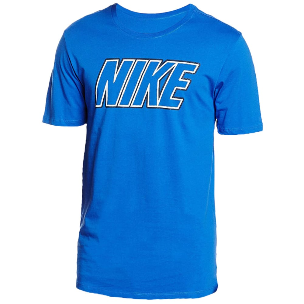 NIKE Men's Block Screen Logo Short-Sleeve Tee - GAME ROYAL-480