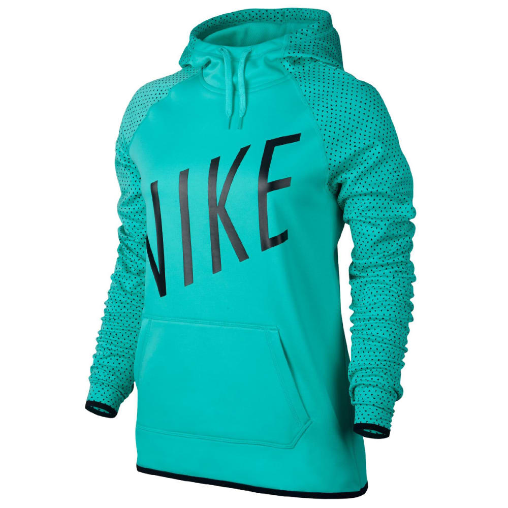 NIKE Women's Therma Graphic Pullover Hoodie - Hyper Jade 317