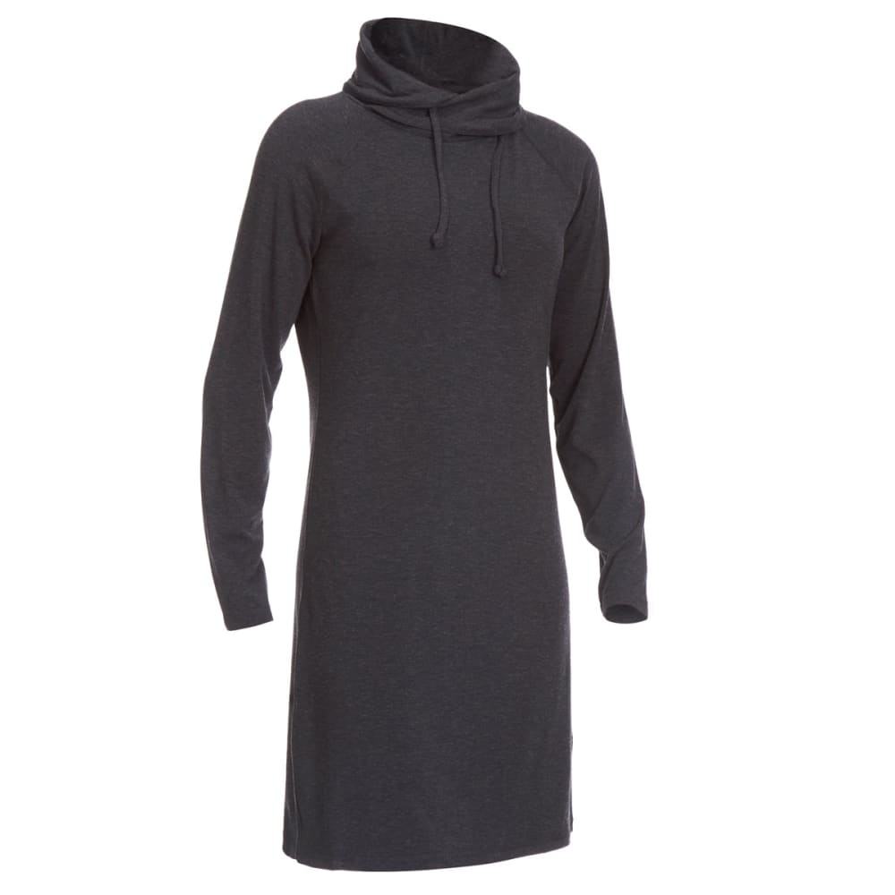 EMS Women's Techwick Journey Scrunch Neck Dress - BLACK HEATHER