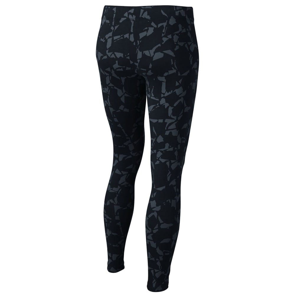 NIKE Big Girls' Sportswear All-Over Print Leggings - BLACK/PNK-010