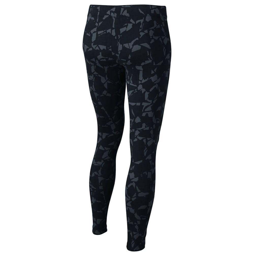 NIKE Big Girls' Sportswear All-Over Print Leggings - BLACK/PNK-010