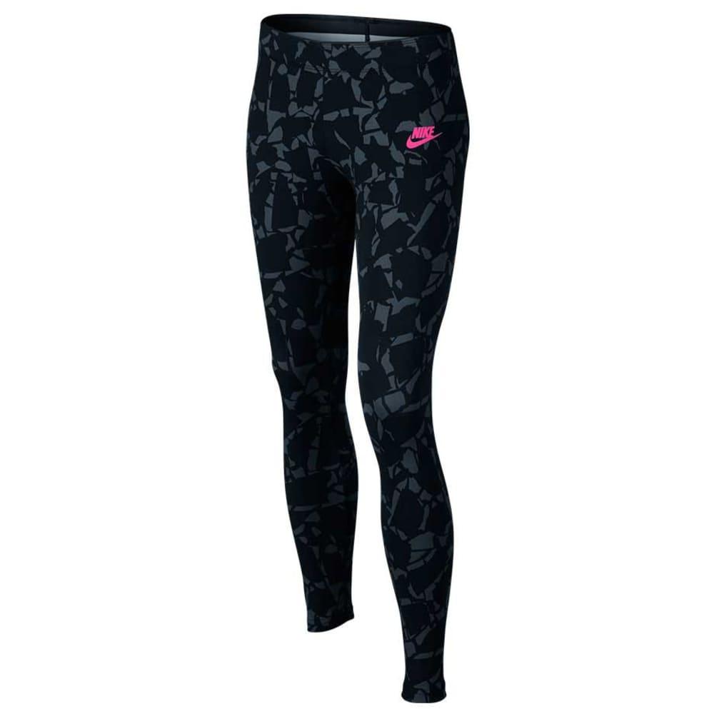 NIKE Big Girls' Sportswear All-Over Print Leggings M