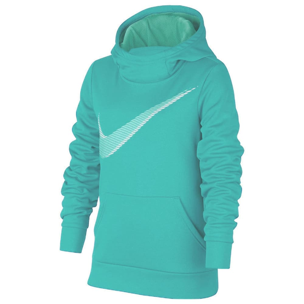 NIKE Big Girls' Therma Swoosh Pullover Hoodie - JADE-317