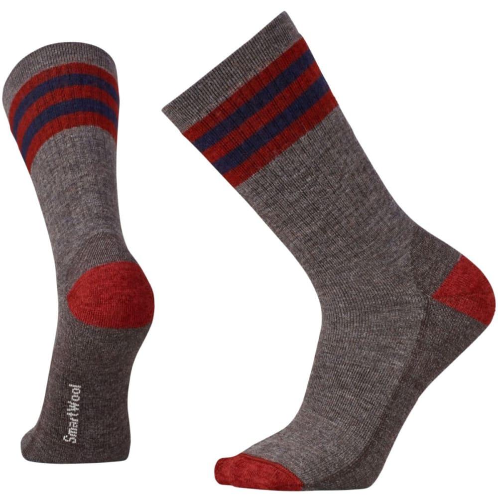SMARTWOOL Men's Striped Hike Medium Crew Socks - TAUPE 236