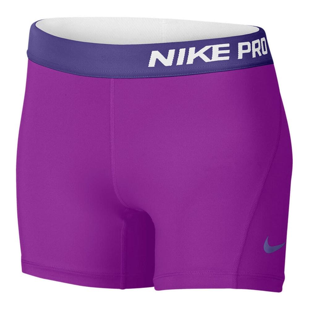 NIKE Girls' Pro Cool Training Shorts - VIVIDPURP/DKIRIS-584
