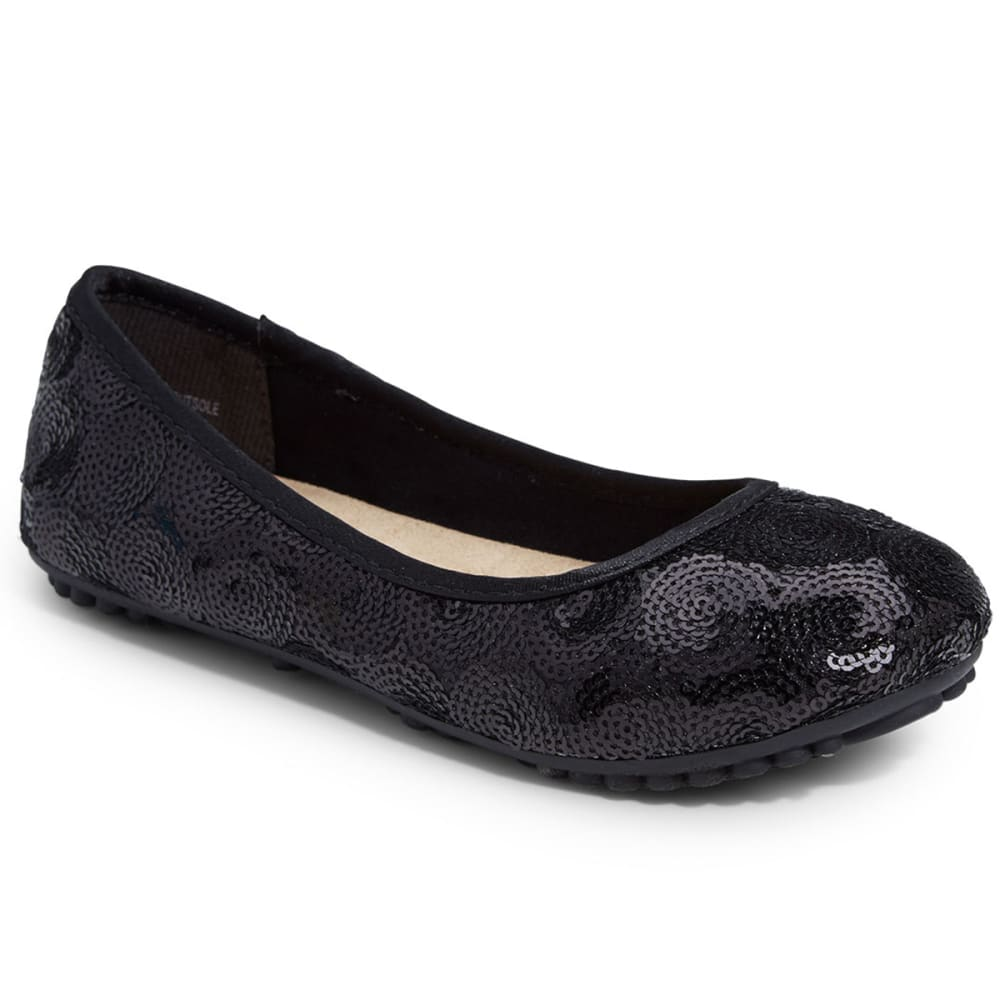 JELLYPOP Girls' Dash Sequin Ballet Shoes - BLACK