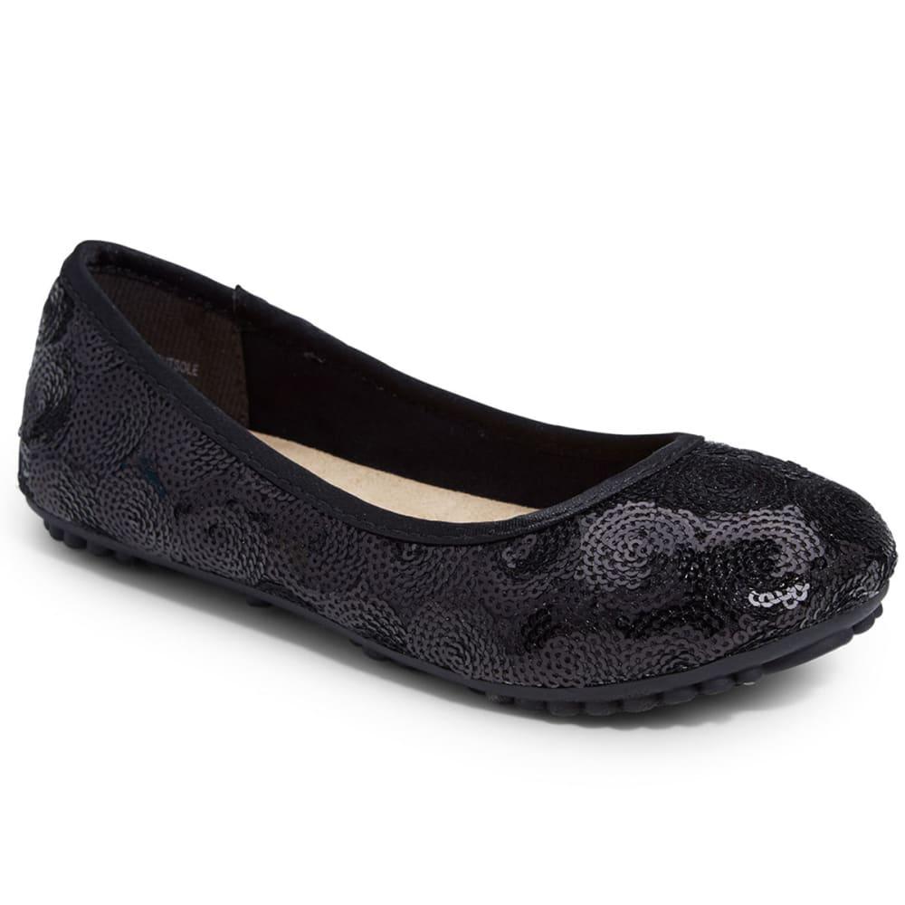 JELLYPOP Girls' Dash Sequin Ballet Shoes - BLACK