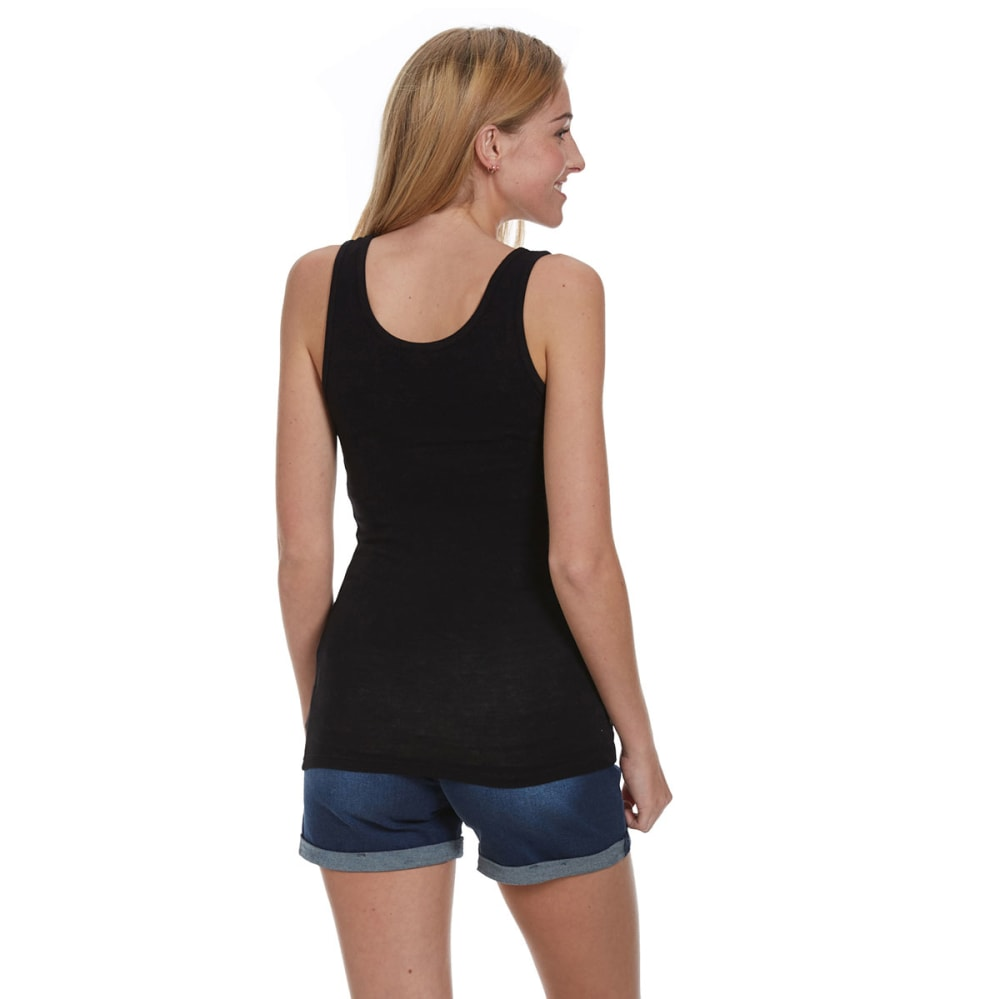 ZENANA Juniors' Double Scoop Tank - BLACK
