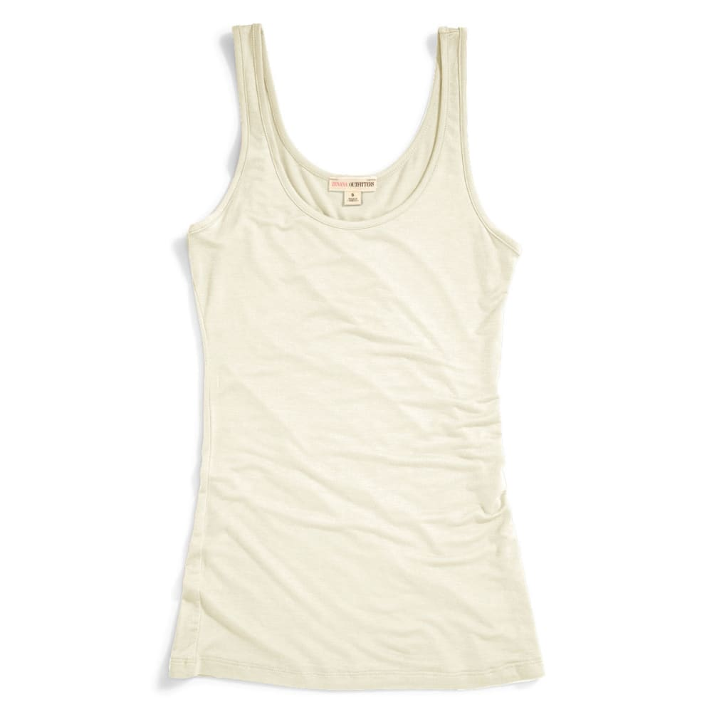 ZENANA Juniors' Double Scoop Tank - IVORY