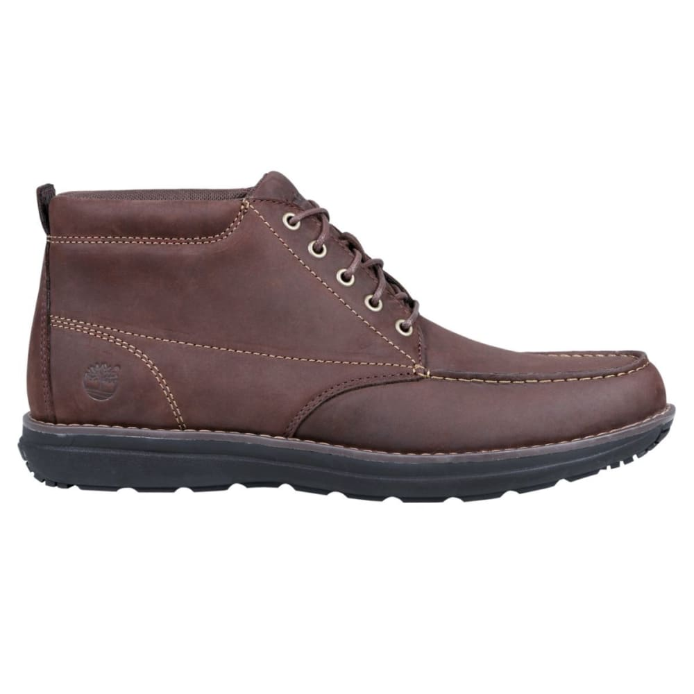 TIMBERLAND Men's Barret Park Moc Toe Chukka Boots - DARK BROWN FULL GRAI