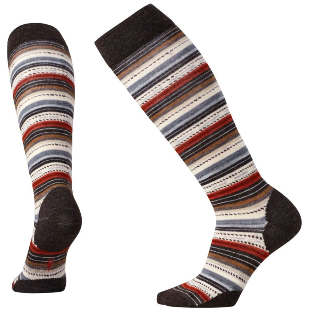 SMARTWOOL Women's Margarita Knee-High Socks - CHESTNUT-207
