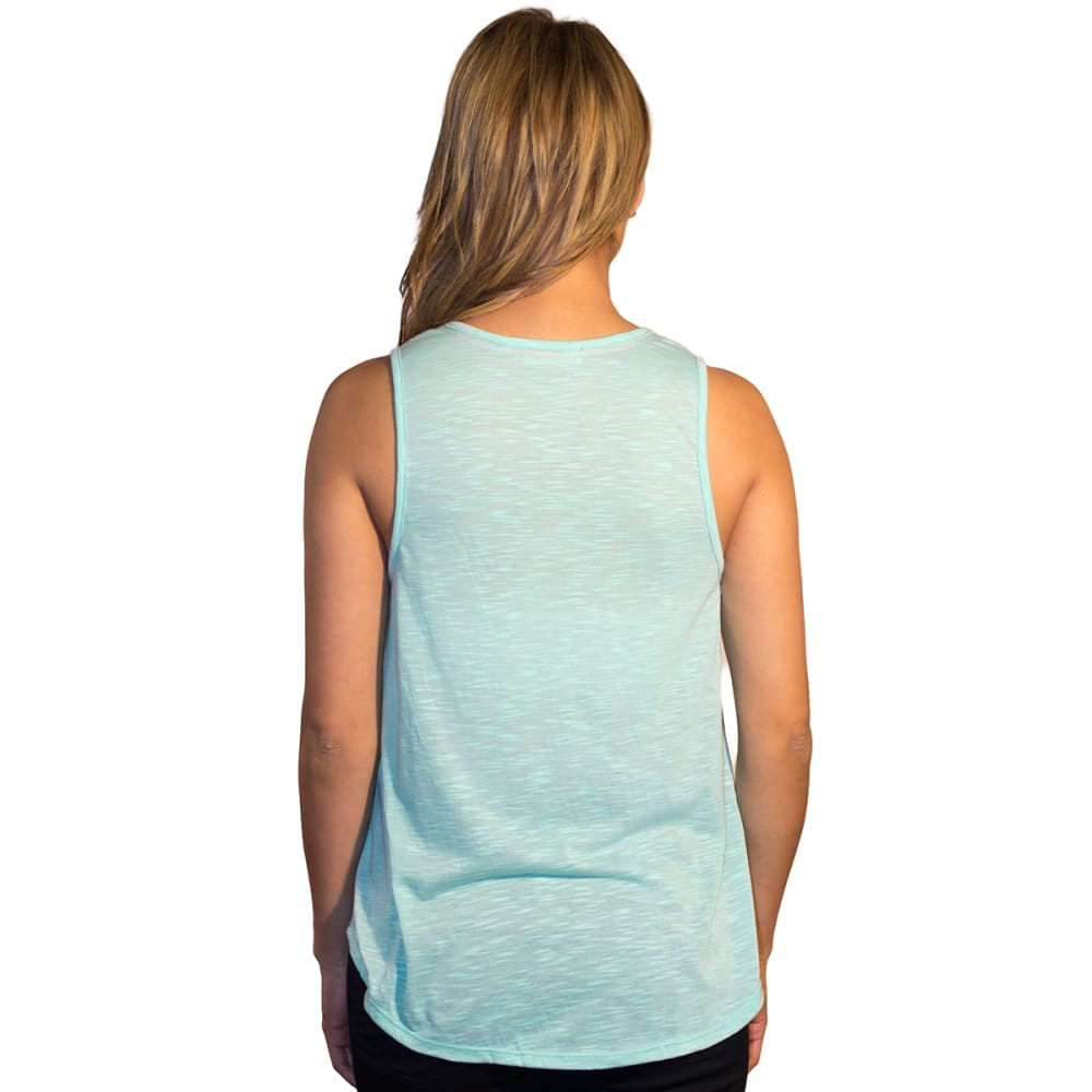 TAYLOR & SAGE Juniors' Solid Lace Trim Tank with Tassels - BRIGHT MINT