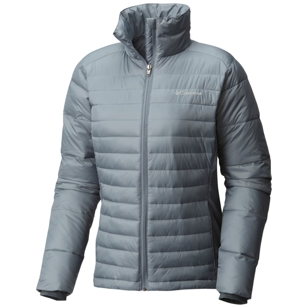 COLUMBIA Women's Powder Pillow Hybrid Jacket - 021-GREY ASH