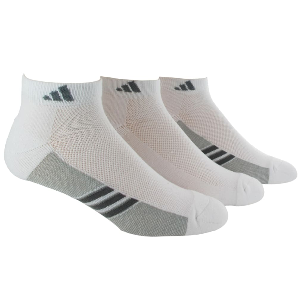 ADIDAS Men's Climacool® Super-Lite Low-Cut Socks, 3 Pack - WHITE/ONIX/LEAD