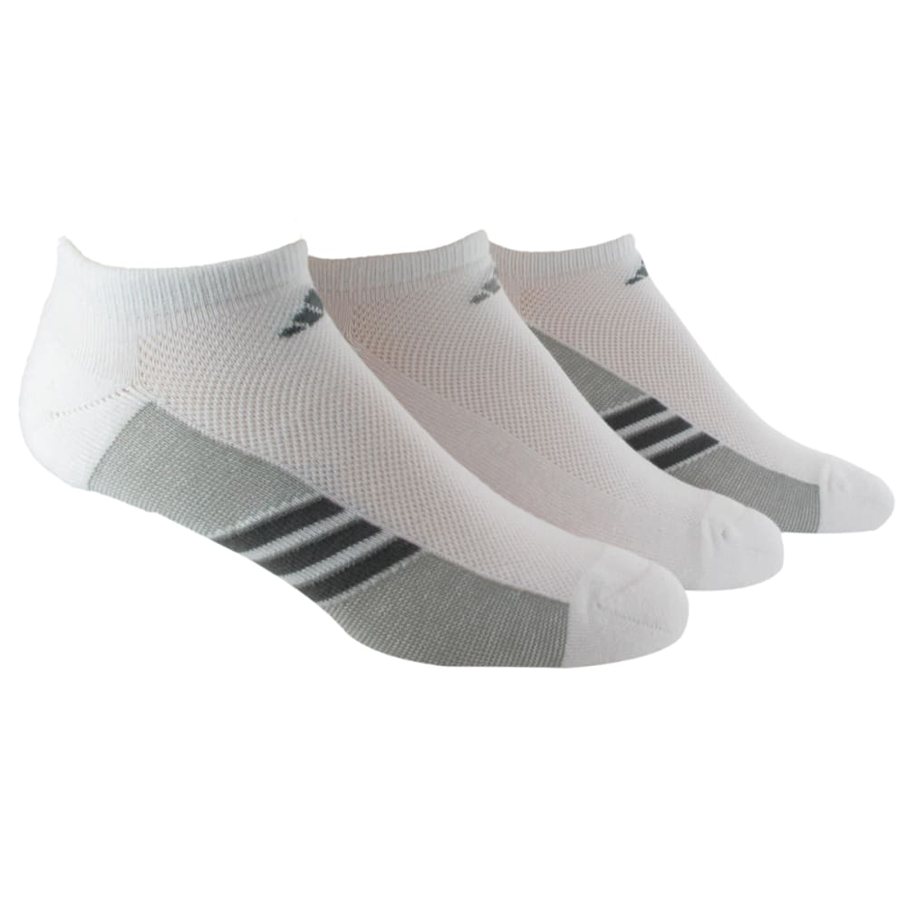 ADIDAS Men's Climacool Superlite No-Show Socks, 3-Pack - WHITE/ONIX/LEAD