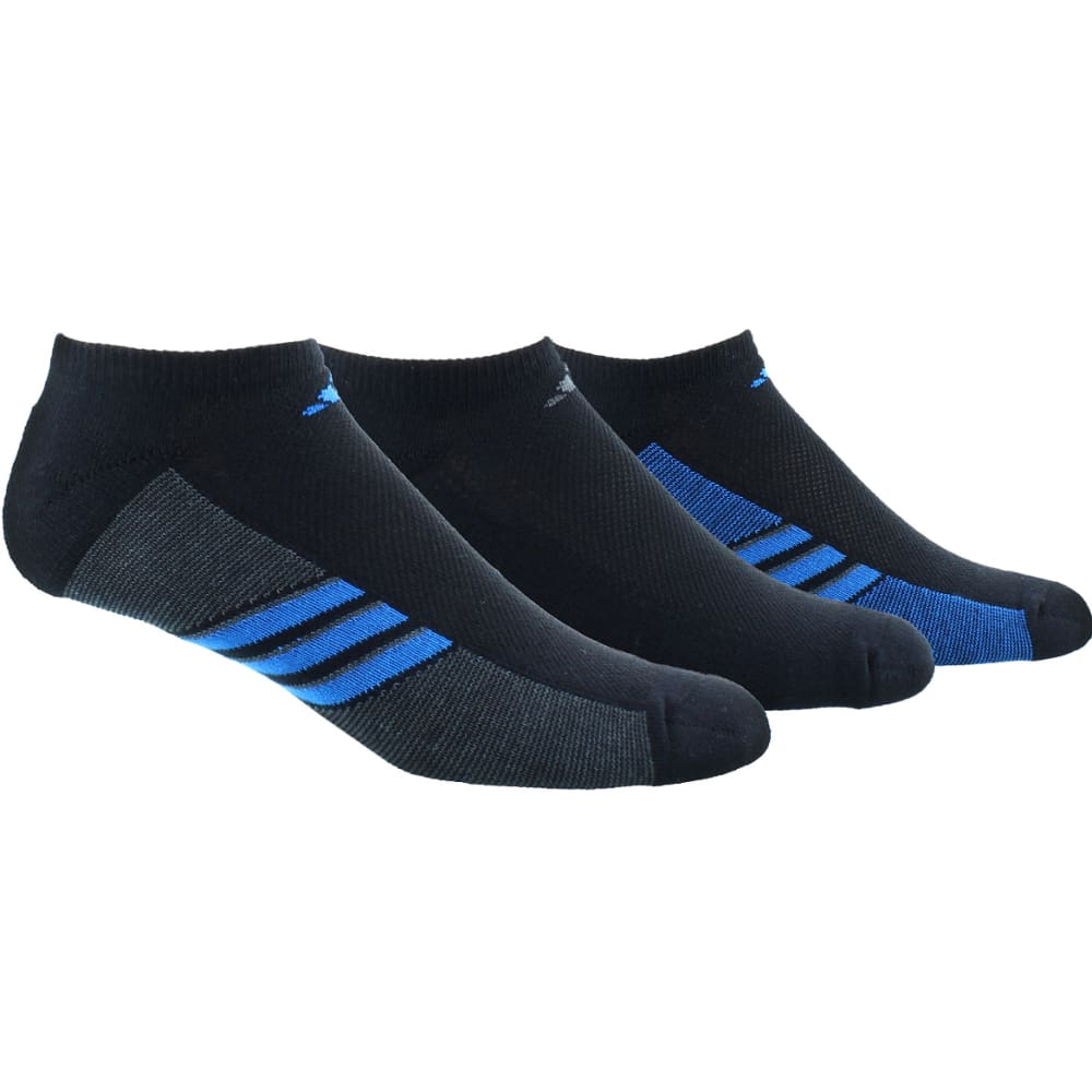 ADIDAS Men's Training Climacool Superlite No-Show Socks - BLACK/BLUE/GRAPH