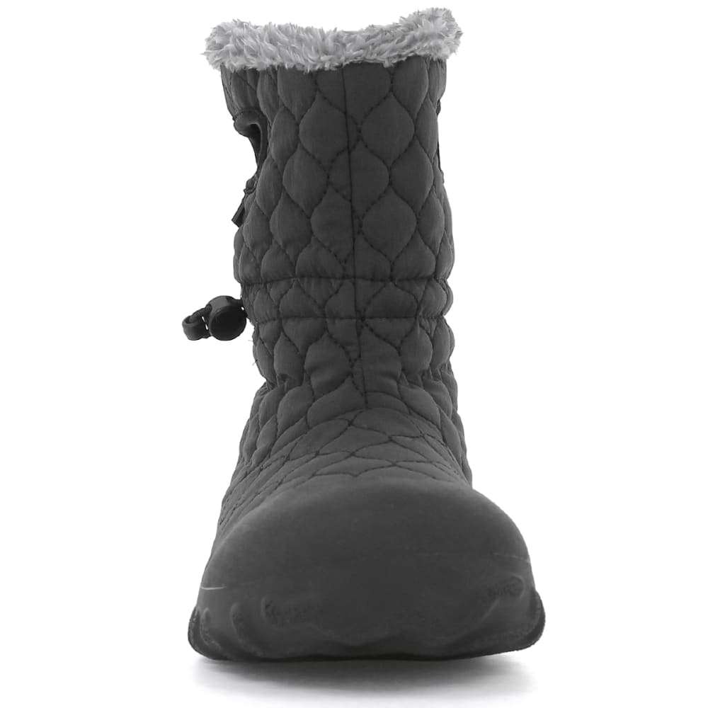 BOGS Women's B-Moc Quilted Puff Insulated Boots, Black - BLACK