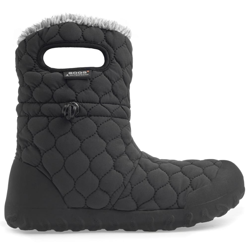 BOGS Women's B-Moc Quilted Puff Insulated Boots, Black 6